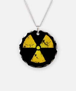 Distressed Radiation Symbol Necklace