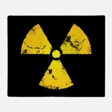 Distressed Radiation Symbol Throw Blanket