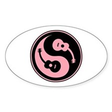 Yin-String Oval Decal