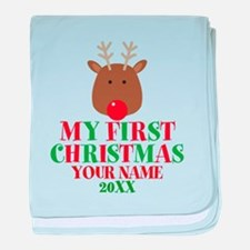 First Christmas Personalized baby blanket