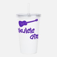 Ukulele Girl Acrylic Double-wall Tumbler