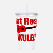 Red Ukulele Acrylic Double-wall Tumbler