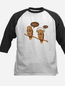 musical owls - PNG Baseball Jersey