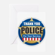 Thank You Police Greeting Cards