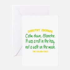 Dorothy Quote Roll in the Hay Greeting Card