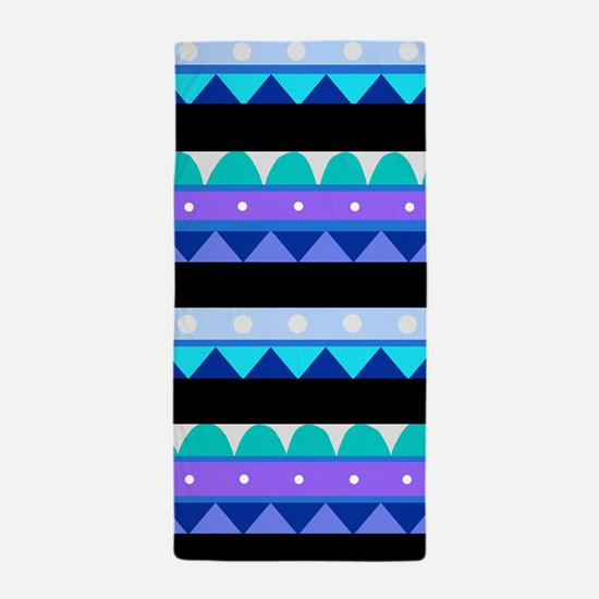'Aztec Blue' Beach Towel