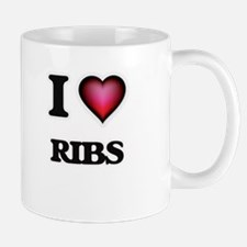 I Love Ribs Mugs