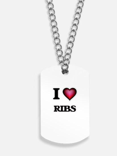 I Love Ribs Dog Tags