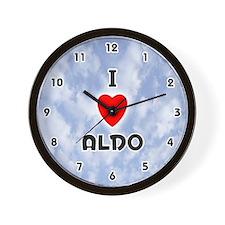 I Love Aldo (Black) Valentine Wall Clock
