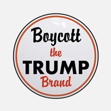 boycott the trump brand Round Ornament