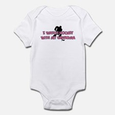 New York Hockey 2 Grandma Infant Bodysuit