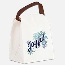 Joyful Snowflakes Canvas Lunch Bag