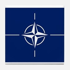 Flag of NATO Tile Coaster
