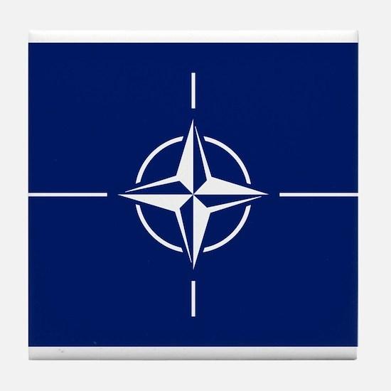 Flag of NATO Tile Coaster