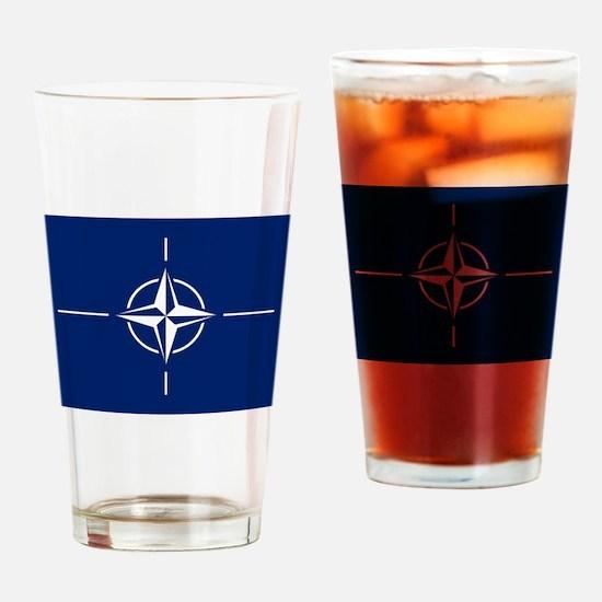 Flag of NATO Drinking Glass