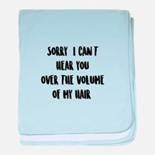 Hair Volume baby blanket