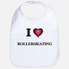 I Love Rollerskating Bib