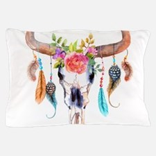 Buffalo Skull Pillow Case