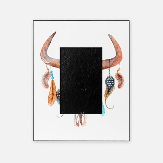 Buffalo Skull Picture Frame