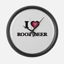 I Love Root Beer Large Wall Clock