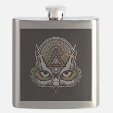 Owl Art Flask
