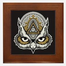 Owl Art Framed Tile