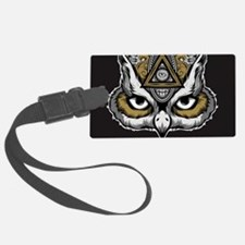 Owl Art Luggage Tag