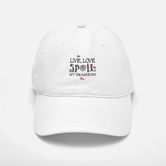 Live Love Spoil Grandkids Cap