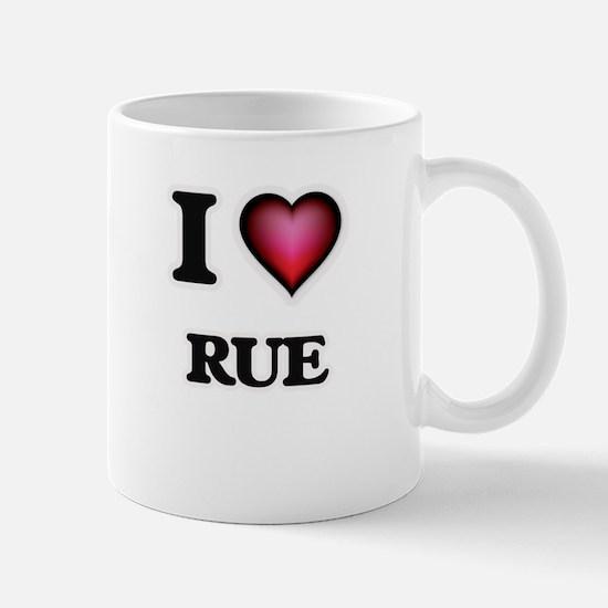 I Love Rue Mugs