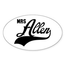 Mrs Allen Oval Decal