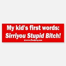 Kid says Sirri Sticker (Bumper)