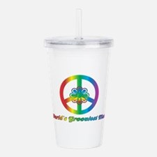 World's Grooviest Acrylic Double-wall Tumbler