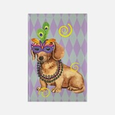 Party Dachshund Rectangle Magnet