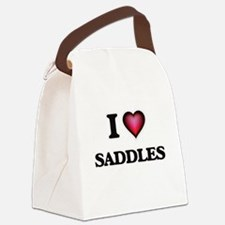I Love Saddles Canvas Lunch Bag