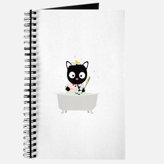 Bathing Cat in a bathtub Journal