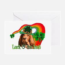 Lucky Irish Setter Greeting Cards
