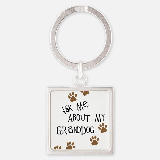 Ask Me About My Granddog Keychains
