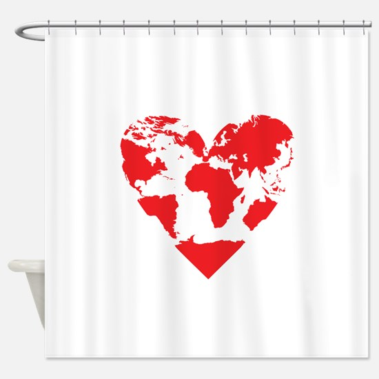 Love the World Shower Curtain