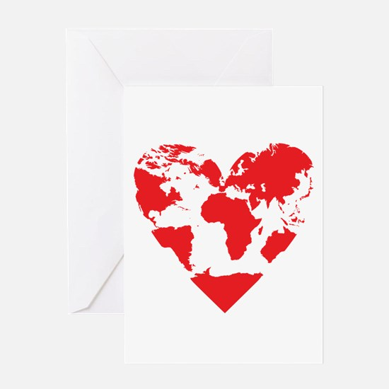 Love the World Greeting Cards
