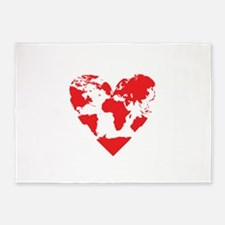 Love the World 5'x7'Area Rug