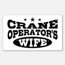Crane Operator's Wife Decal