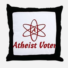 Atheist Voter Throw Pillow