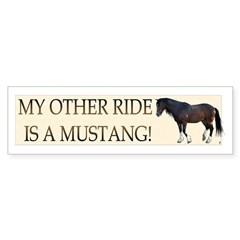 Mustang Cahlibur Bumper Bumper Sticker