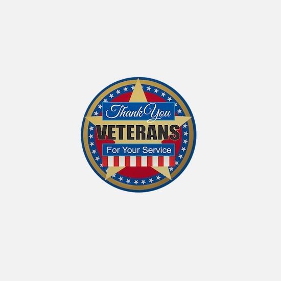 Thank You Veterans Mini Button