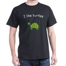 i like turtles black T-Shirt