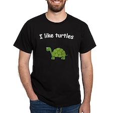 i like turtles black T-Shirt