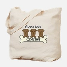 Cute Love dog Tote Bag