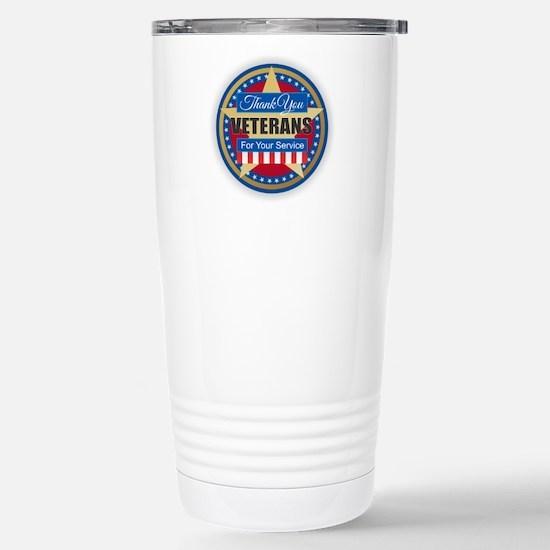 Thank You Veterans Stainless Steel Travel Mug