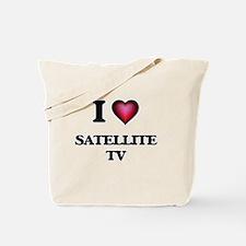 I Love Satellite Tv Tote Bag