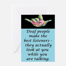 Best Listeners Greeting Cards